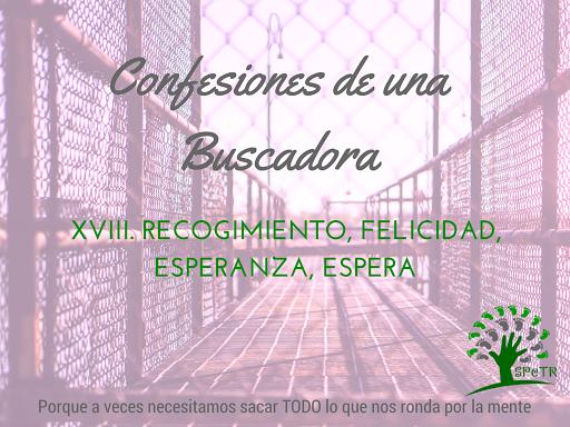 Recogimiento, Felicidad, Esperanza, Espera – Confesiones de una Buscadora XVIII