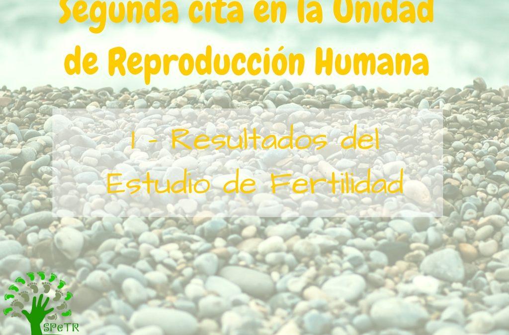 Segunda cita en la Unidad de Reproducción: 1 – Resultados Estudio Fertilidad