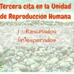 Tercera cita en la Unidad de Reproducción: 1 – Resultados (in)esperados