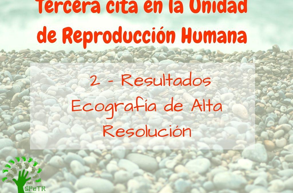 Tercera cita en la Unidad de Reproducción: 2 – Resultados Ecografía de Alta Resolución