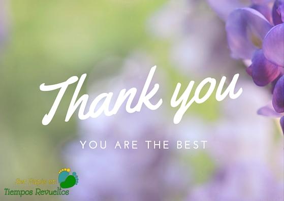 Gracias por vuestro apoyo