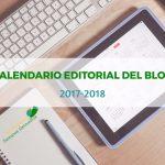 Nuevo calendario editorial del blog 2017-2018