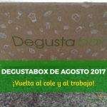 Degustabox Agosto 2017 ¡Vuelta al cole y al trabajo!